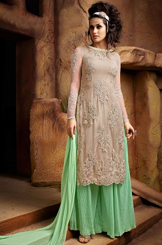 Net skirttype SalwarKameez Skirt