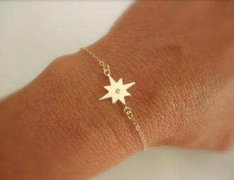 North star charm bracelet