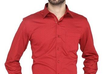 Office Wear Red Shirt