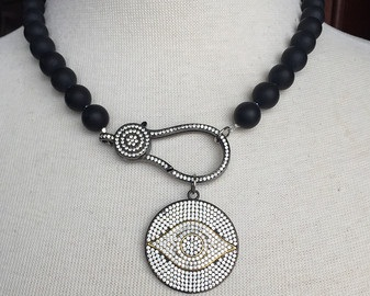 Onyx Birthstone Necklace
