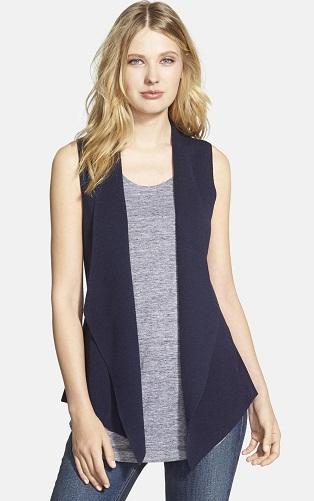 Open Front Cotton Vest for women