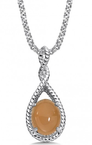 Orange Moonstone Pendant