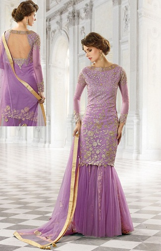 Palazzo Purple Salwar Suits