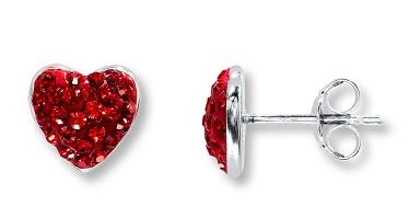 Party wear heart earrings