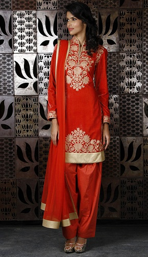 Party wear velvet salwar suit