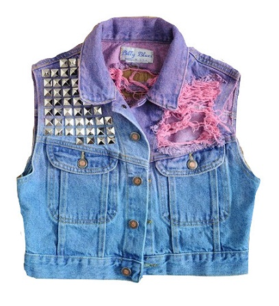Patch-work Cropped Women Vest