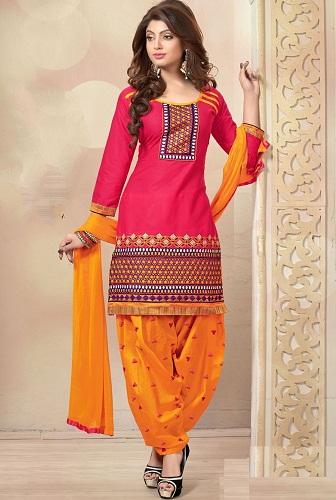Patiyala Orange Salwar Suit3