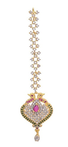 Peacock Design Diamond MaangTikka