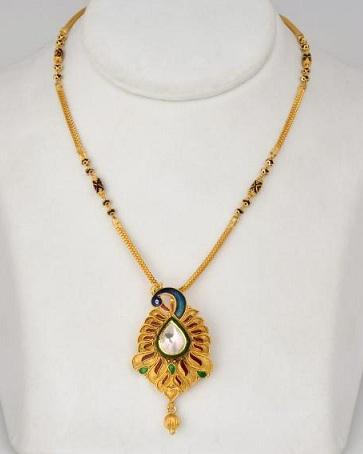 Peacock design fancy mangalsutra