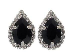 Pear shaped crystal earrings