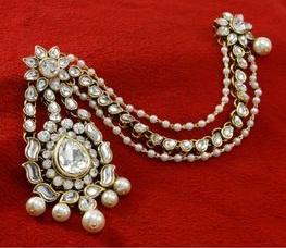 Pearl Jhoomer Style Maang Tikka