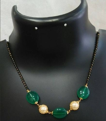 Pearl and Gold balls Mangalsutra