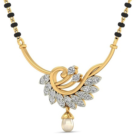 Pearl And Diamond Maharashtra Mangalsutra