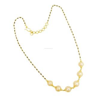 Pearl lightweight gold mangalsutra