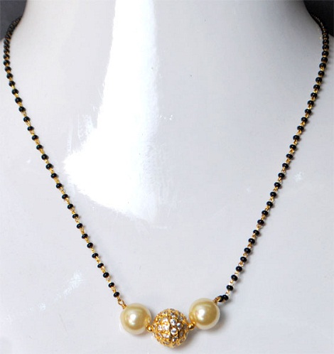 Pearl long mangalsutra