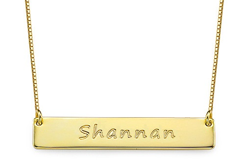 Personalized golden plated necklace