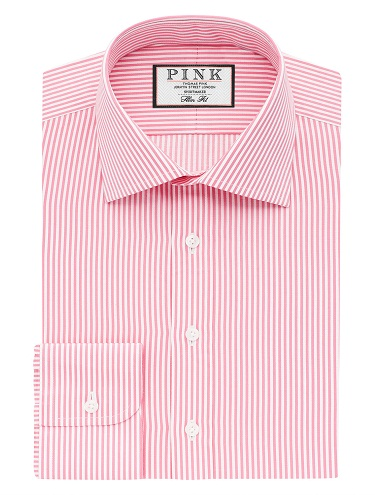 Pink Stripe Men Shirts