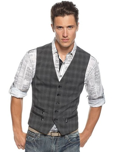 Plaid Casual Vest