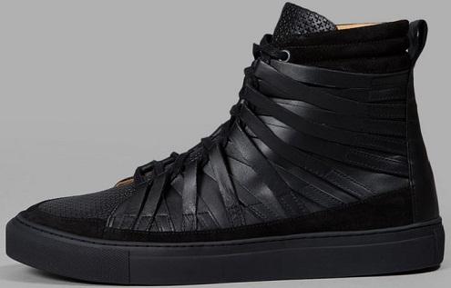 Plain Black Ankle Length Men´s Canvas Shoe -7
