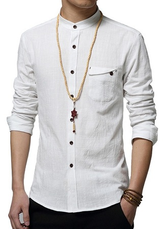 Plain Linen white shirt