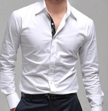 Plain white formal shirt