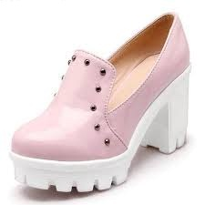 Platform Heels Light Pink Shoes for Girls