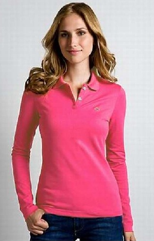 Polo Pink Shirt Top for Womens