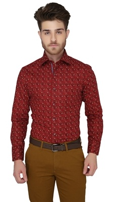 Printed Red Shirt
