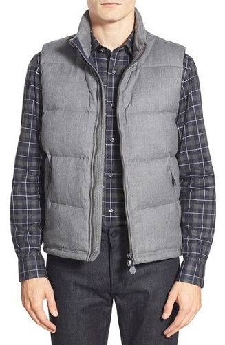 Puffer style grey Vest