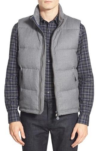 Puffer style grey Vest