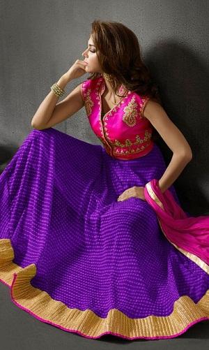 Purple Salwar Suits – Jacket Frock Style