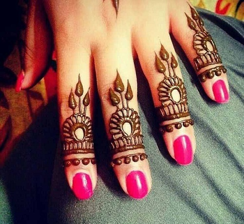 Top 15 Fashionable Finger Mehndi Designs With Images 2019