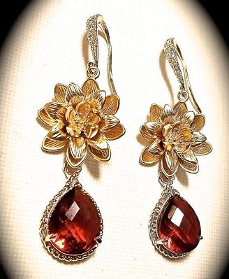 Red Earrings for Bridal