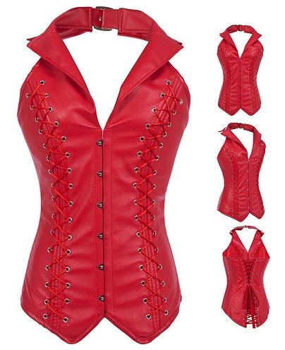 Red Halter Neck Vest