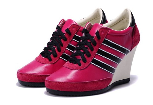 Red Helvetica Adidas shoes -8