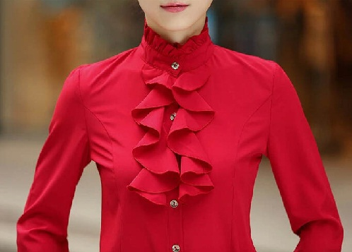 Red Shirt with Frills