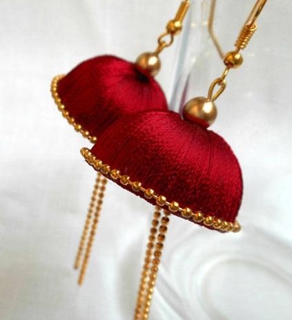 Red Thread Earrings