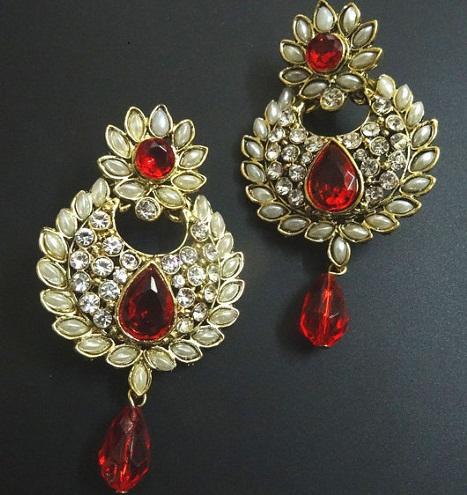 Red Trendy Earrings