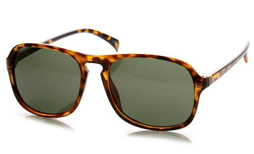 Retro Keyhole Aviator Mens Sunglass