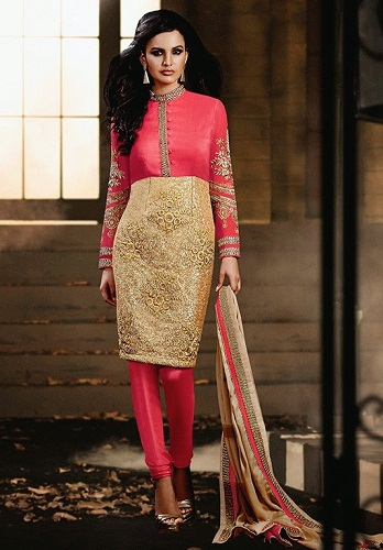 Retro Style Gold Salwar Suit