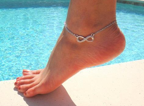 Rhinestone Crystal Infinity anklet