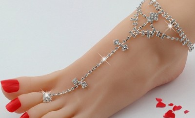 Rhinestone Foot Anklets for Women