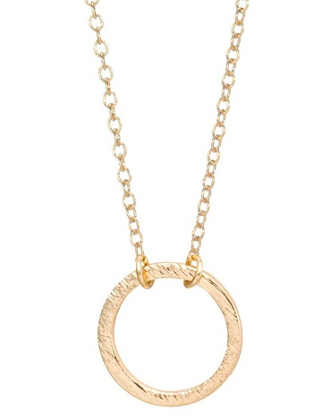 Ring Pendant Simple Gold Chain