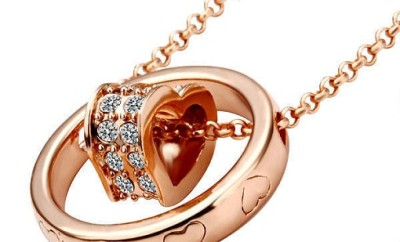 Ring pendant heart necklace