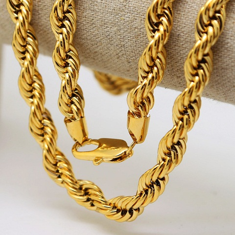 Rope 24k Gold Chain