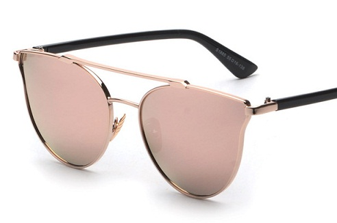 Rose Gold Reflective Sunglasses for Girls