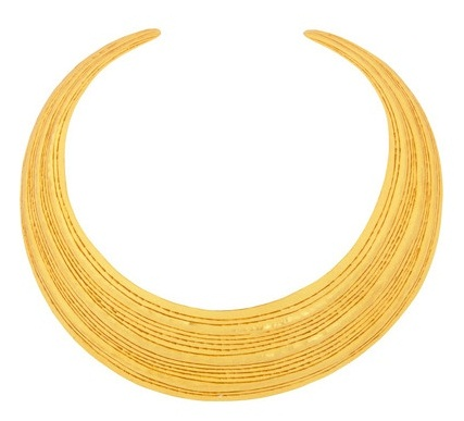 Round gold plated necklace