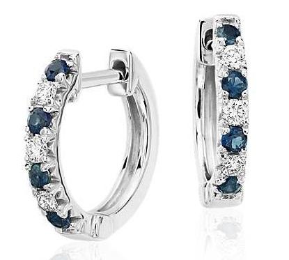 Sapphire gorgeous drop down earrings