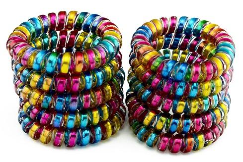 Scrunchy rubber bracelets