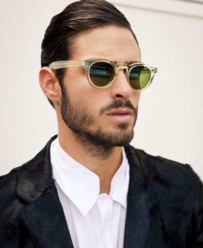 Semi-Translucent Rim Mens Sunglass -24